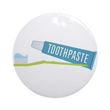 Toothpaste Brush Ornament (Round)