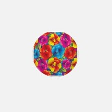 Colorful Flowers Mini Button