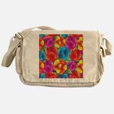 Colorful Flowers Messenger Bag