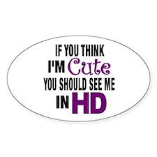 High Def (HD) Cute Oval Decal