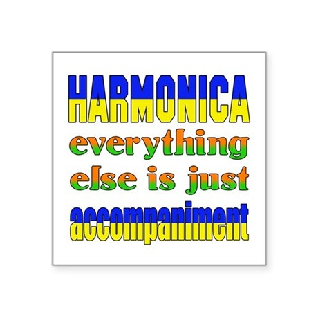 "Haremonica everything else Square Sticker 3"" x 3"""
