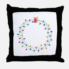 Wearth Of Lights Throw Pillow