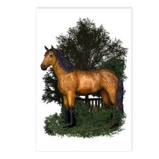 Buckskin Horse in Woodlan Postcards (Package of 8)