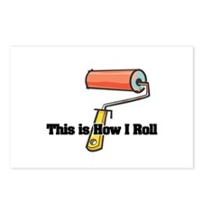 How I Roll (Paint Roller) Postcards (Package of 8)