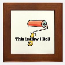 How I Roll (Paint Roller) Framed Tile