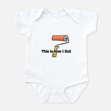 How I Roll (Paint Roller) Infant Bodysuit