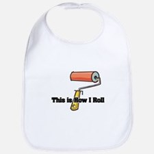 How I Roll (Paint Roller) Bib
