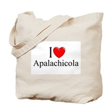 """I Love Apalachicola"" Tote Bag"
