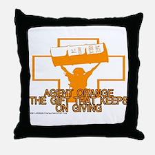 AGENT ORANGE THE GIFT Throw Pillow