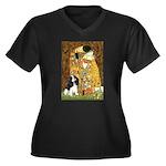 The Kiss & Tri Cavalier Women's Plus Size V-Neck D