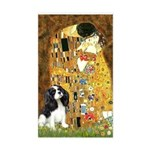 The Kiss & Tri Cavalier Sticker (Rectangle)