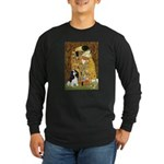 The Kiss & Tri Cavalier Long Sleeve Dark T-Shirt