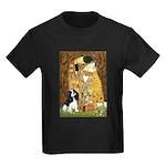 The Kiss & Tri Cavalier Kids Dark T-Shirt