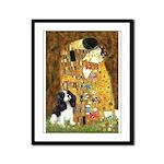 The Kiss & Tri Cavalier Framed Panel Print