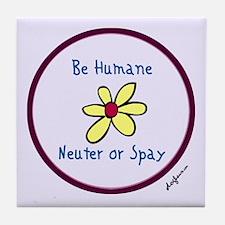 Be Humane Spay & Neuter Tile Coaster