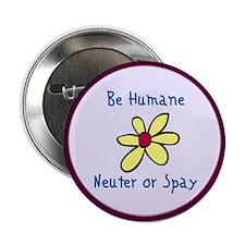 Be Humane Spay & Neuter Button