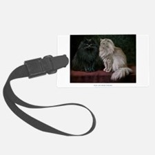 Gorgeous Black and White Persian Cats Luggage Tag