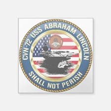 "CVN-72 USS Abraham Lincoln Square Sticker 3"" x 3"""