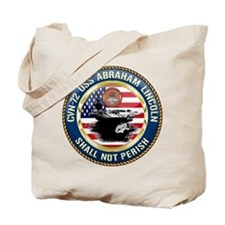 CVN-72 USS Abraham Lincoln Tote Bag