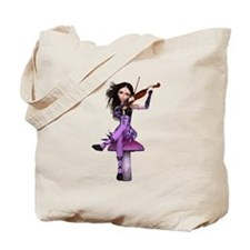 Amethyst Fairy and Violin Tote Bag