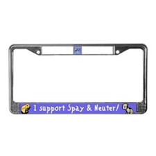 I Save Lives! Spay & Neuter License Plate Frame