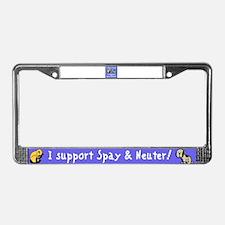 I Save Lives! Spay & Neuter License Plate Frame
