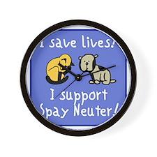 I Save Lives! Spay & Neuter Wall Clock
