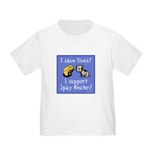 I Save Lives! Spay & Neuter Infant T-Shirt