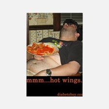 mmm...hot wings Rectangle Magnet (100 pack)