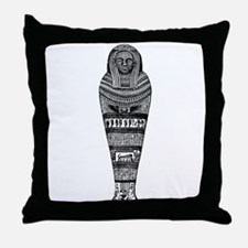Eqyptian Mummy Case Throw Pillow