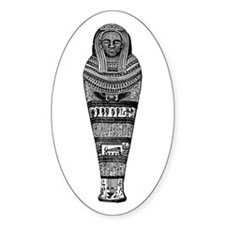 Eqyptian Mummy Case Oval Decal