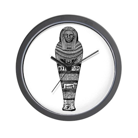 Eqyptian Mummy Case Wall Clock