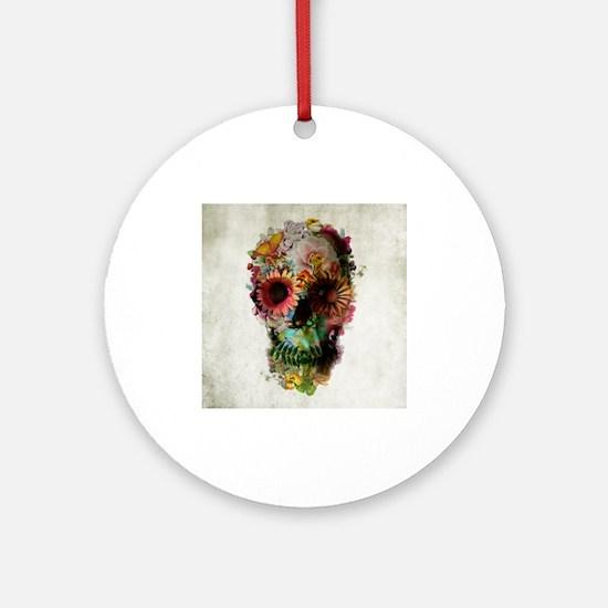 Skull 2 Ornament (Round)