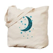 Funny Moon and stars Tote Bag