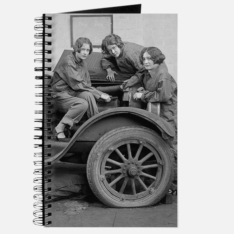 Cute Women mechanics Journal