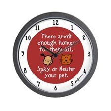 Too Few Homes Spay & Neuter Wall Clock