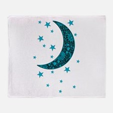 Unique Moon and stars Throw Blanket