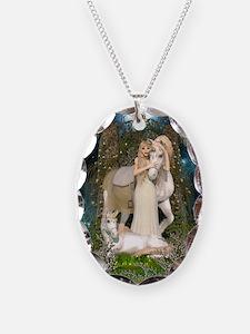 Princess of Unicorns Necklace Oval Charm