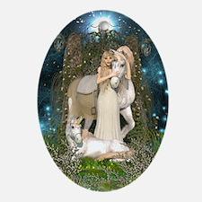 Princess of Unicorns Oval Ornament