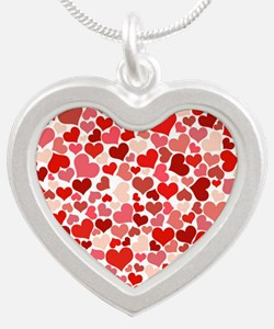 red/pink Hearts Necklaces
