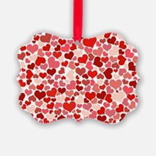 red/pink Hearts Ornament