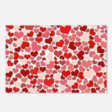 red/pink Hearts Postcards (Package of 8)