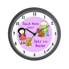 Teach Spay and Neuter Wall Clock
