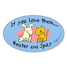 You Love Them Spay & Neuter Oval Decal
