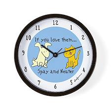 You Love Them Spay & Neuter Wall Clock