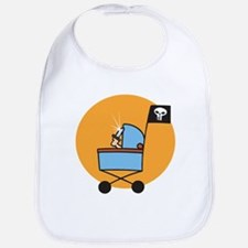 Pirate Stroller Bib