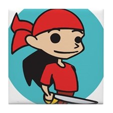Kid Pirate Tile Coaster