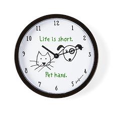 Pet Hard (Pets) Wall Clock