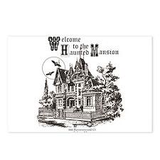 vintage Halloween haunted house Postcards (Package