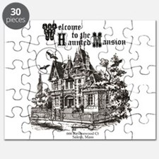 vintage Halloween haunted house Puzzle